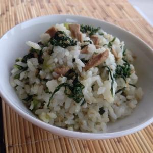 小松菜とツナのまぜご飯♪