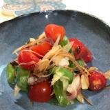 ヘビ瓜とタコのサラダ