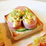 マジソル/マヨで 胡瓜・魚ニソ・白菜のミニトースト