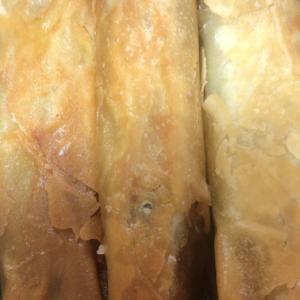 山芋のバターにんにく醤油春巻き