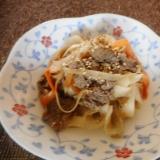 牛肉とピーラー根菜の炒め煮