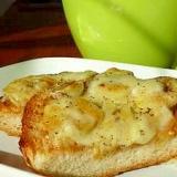 絶品!トロ~リばななチーズのピーナツバタートースト