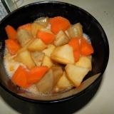 釜揚げうどんと野菜煮のトッピング