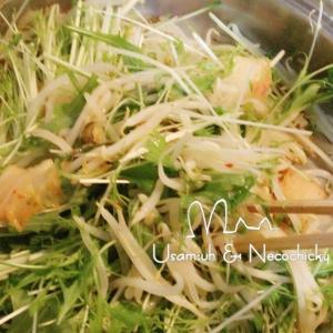 節約レシピ☆水菜ともやしのキムチ炒め
