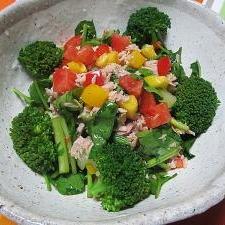 3種のお酢でまろやか*ブロッコリーほうれん草サラダ
