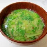 *小松菜と大根葉の味噌汁*
