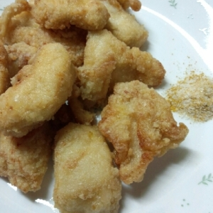 フライパン1つで!鶏胸マヨ焼き、カレー塩でどうぞ!