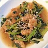 冷凍小松菜と揚げの煮びたし