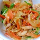 豚肉と野菜と春雨の甘辛炒め★チャプチェ風