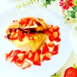 優雅な気分になれるお洒落朝食!ストロベリーブリトー