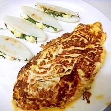 糖尿病改善健康納豆豆乳オムレツ(笹かまチーズ添え)