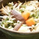 ストーブ鍋で豚肉と野菜の蒸し煮