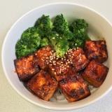 簡単 BBQソース豆腐丼