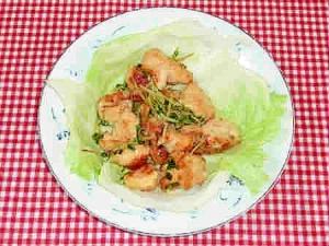 ♪鶏肉と豆苗のマヨ炒め♪