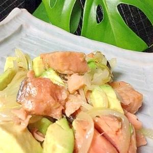 スキャンピマリネードソース漬け鮭の簡単レンジ蒸し