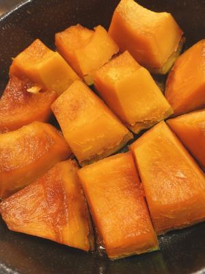 子どもに大人気⭐簡単かぼちゃ煮