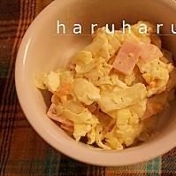 キャベツとハムと卵のサラダ