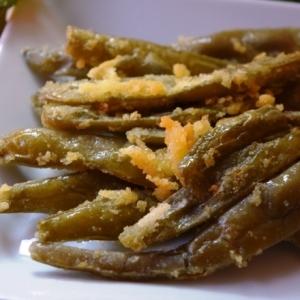 トルコ料理★焼いた塩漬けモロッコいんげん
