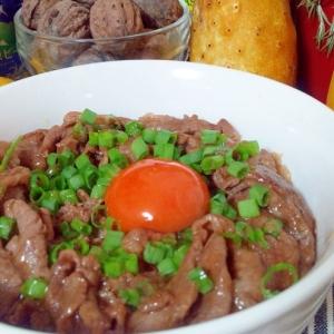 甘辛牛丼・簡単に、お肉は柔らかく☆