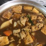 豚バラカレー鍋