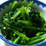 小松菜だけ!さっと簡単一品。小松菜のにんにく炒め