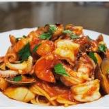 海の幸のスパゲッティーニ