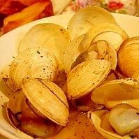 栄養たっぷり☆マングローブ貝のガーリックバター炒め