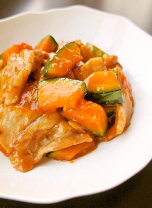 ごはんがすすむ~!かぼちゃと豚肉の照り焼き炒め
