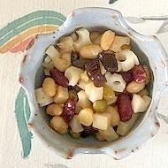サラダ大豆、レンコン、きくらげの炒め物