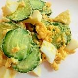 きゅうりと茹で卵の簡単サラダ♪