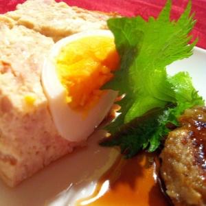 ヘルシー♪鶏ミンチ&豆腐で【和風ミートローフ】