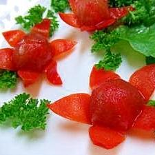 かわいいプチお花畑*プチトマトのサラダ