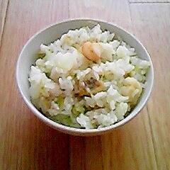簡単☆白菜シーフードの炊き込みご飯