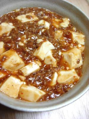 肉みそで簡単!麻婆豆腐