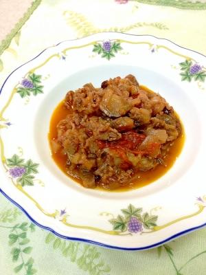 牛肉と茄子のトマト煮込み