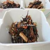 小鉢レシピ◇ひじきと切り昆布の炒め煮