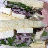 豆腐のサンドイッチ
