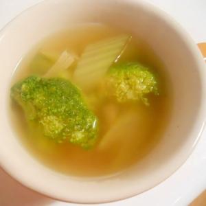 セロリとブロッコリーのコンソメスープ