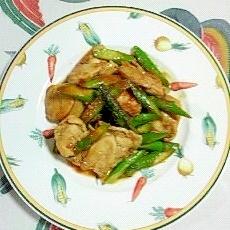 鶏ムネ肉とアスパラの炒め物~♪