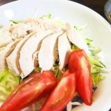 よだれ鶏風♪胸肉のピリ辛サラダ