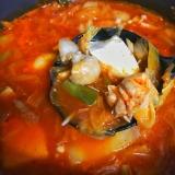 野菜たっぷり豆腐チゲスープ