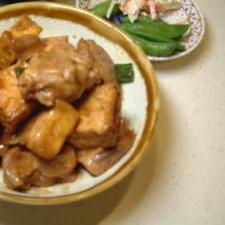 鶏と厚揚げのねぎ味噌炒め★ボリューム満点