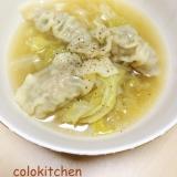 トロトロキャベツの中華スープ餃子