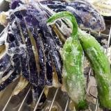 茄子とししとうの夏野菜天ぷら