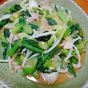 たっぷり野菜と豚肉の酢味噌炒め