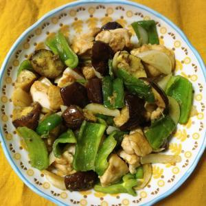 グリーンカレーペーストで鶏モモ野菜炒め