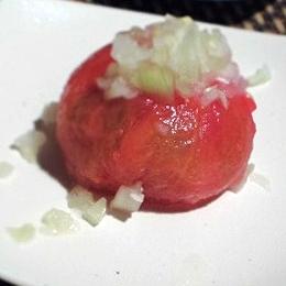 新たまねぎでしゃっきり、トマトのお浸し
