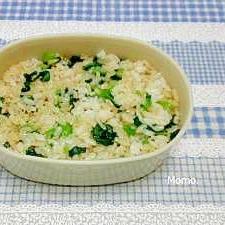 小松菜と白ゴマの混ぜご飯