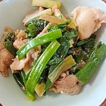 豚肉とわけぎの炒め物