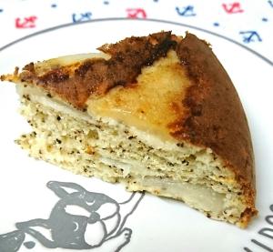 炊飯器で☆紅茶香る梨ケーキ
